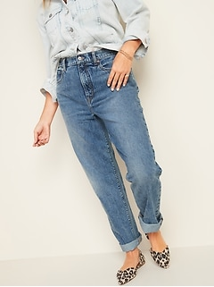 Extra High-Waisted Sky-Hi Straight Rigid Jeans for Women