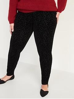 High-Waisted Stevie Secret-Slim Leopard-Print Plus-Size Pants