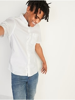 Built-In Flex Everyday Oxford Short-Sleeve Shirt for Men