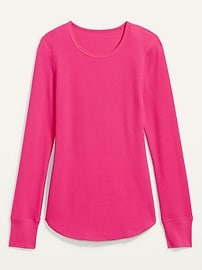 Thermal-Knit Long-Sleeve Tee for Women