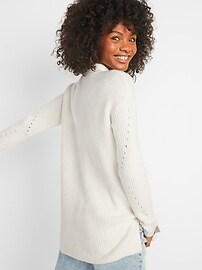 Cozy Textured Tunic Sweater for Women