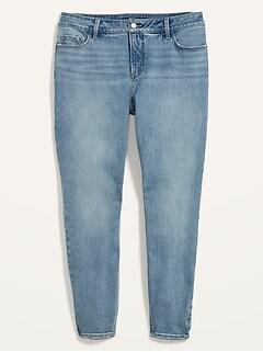 High-Waisted Secret-Slim Pockets Rockstar Super Skinny Plus-Size Jeans