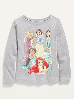 Disney© Princess Long-Sleeve Graphic Tee for Toddler Girls