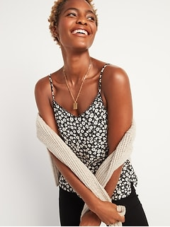 Floral-Print Scalloped-Edge Cami for Women
