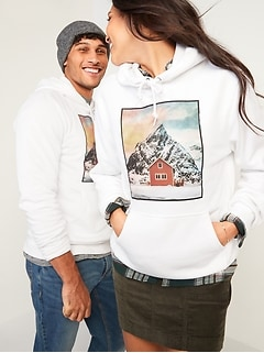 Gender-Neutral Graphic Pullover Hoodie for Men & Women
