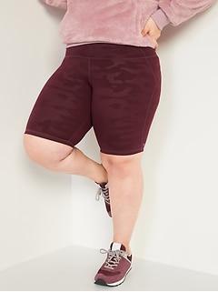 Plus-Size Compression Biker Shorts -10-inch inseam