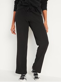 Mid-Rise Cozy Micro Performance Fleece Pajama Pants for Women