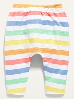 Unisex U-Shaped Striped Jersey Pants for Baby