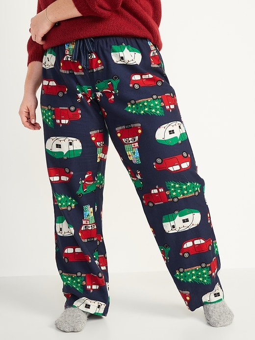 Patterned Flannel Plus-Size Pajama Pants