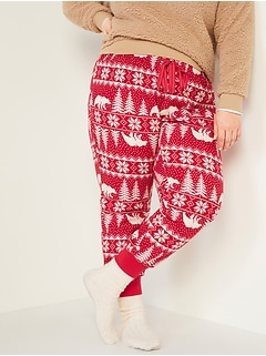Patterned Flannel Jogger Plus-Size Pajama Pants