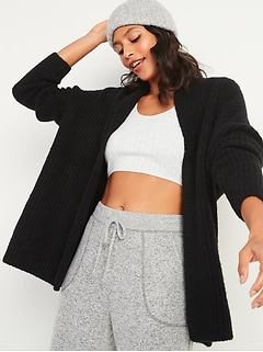 Slouchy Open-Front Sweater for Women