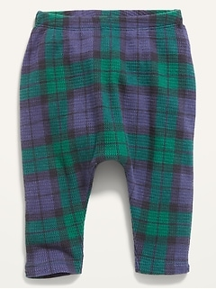 Unisex U-Shaped Plaid Thermal Pants for Baby