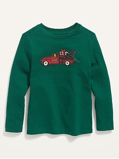Unisex Matching Holiday-Graphic Tee for Toddler