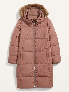 Veste rembourrée longue Frost-Free à capuchon pour femme