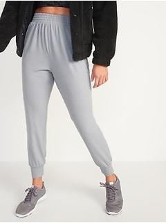 High-Waisted Lightweight Drop-Crotch Jogger Pants for Women