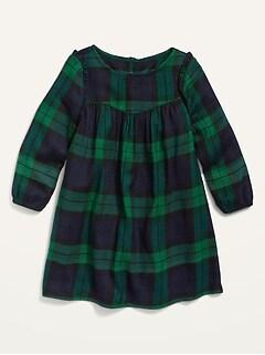 Robe en flanelle à imprimé pour toute-petite fille