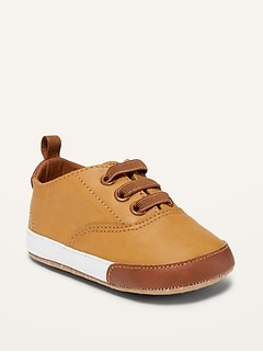 Color-Blocked Faux-Leather Sneakers for Baby