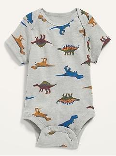 Cache-couche unisexe à imprimé de dinosaure et manches courtes pour Bébé
