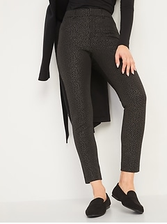 All-New High-Waisted Pixie Foil-Dot Ankle Pants for Women