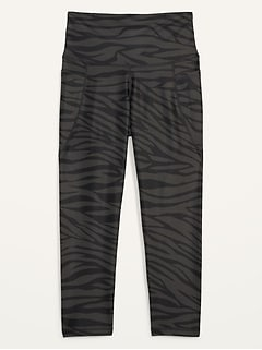 High-Waisted PowerSoft Side-Pocket Crop Leggings for Women