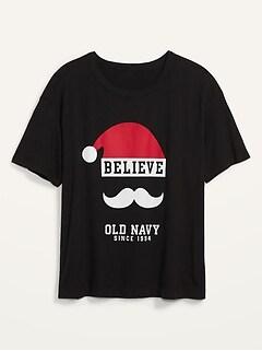 T-shirt ample et décontracté à imprimé de Noël, taille forte