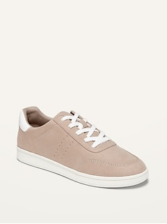 Soft-Brushed Faux-Suede Sneakers for Women