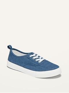 Lace-Up Chambray Sneakers for Girls