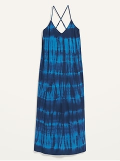 Specially Dyed Sleeveless Maxi Shift Dress for Women