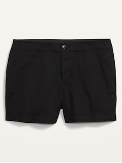High-Waisted Twill Plus-Size Everyday Shorts -- 5-inch inseam