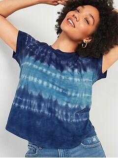 T-shirt à imprimé tout-aller en tricot grège pour femme