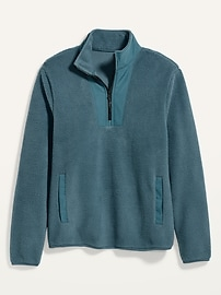 Cozy Sherpa Half-Zip Mock-Neck Sweatshirt for Men