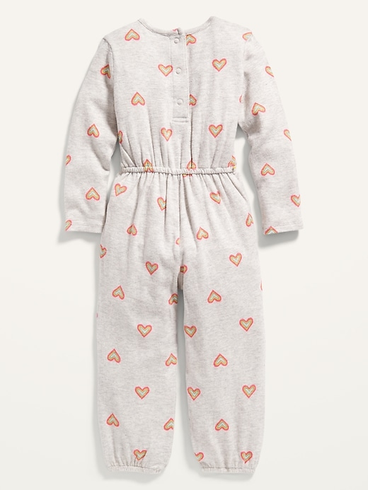 Cozy Printed Jumpsuit for Toddler Girls