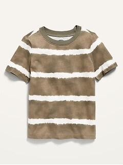Unisex Striped Short-Sleeve Tie-Dye Tee for Toddler