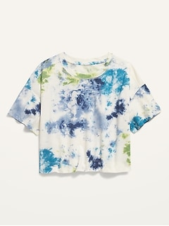 Cropped Vintage Tie-Dye Tee for Girls