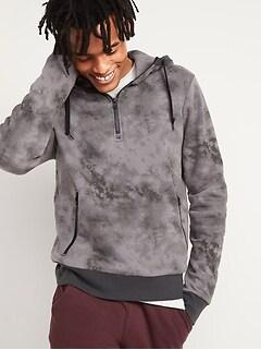 Chandail en tricot côtelé à capuchon avec glissière au quart pour Homme