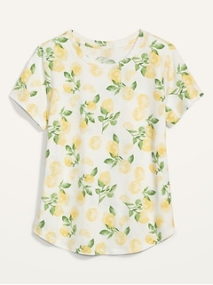EveryWear Patterned Short-Sleeve Tee for Women