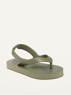 Unisex Solid Flip-Flops for Toddler