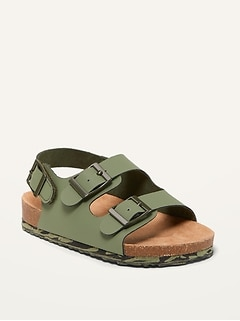 Faux-Leather Double-Buckle Sandals for Toddler