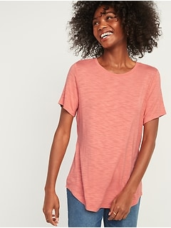 Luxe Slub-Knit Tee for Women