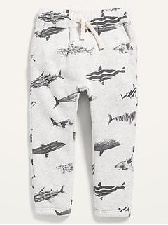 Unisex Shark-Print U-Shaped Sweatpants for Toddler