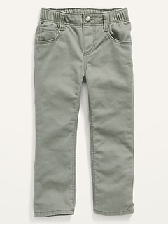 Unisex Straight Pull-On Pop-Color Jeans for Toddler