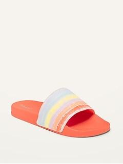 Sandales de piscine en similicuir pour Fille