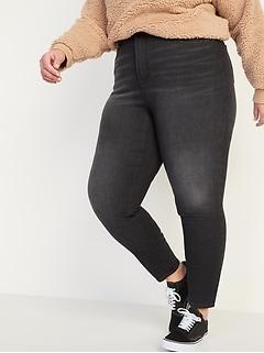 Extra High-Waisted Secret-Slim Pockets Rockstar 360° Stretch Super Skinny Plus-Size Black Jeans