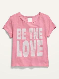 Breathe ON Built-In Flex Graphic Tee for Toddler Girls