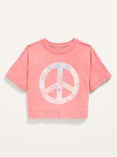 Cropped Vintage Graphic Tee for Girls