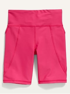 High-Waisted Elevate Powersoft Side-Pocket Biker Shorts for Girls