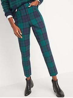 Tout nouveau pantalon long Pixie à motifs à taille haute, pour femme