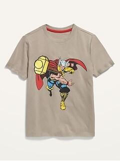 T-shirt à imprimé utilisé sous licence unisexe pour enfant