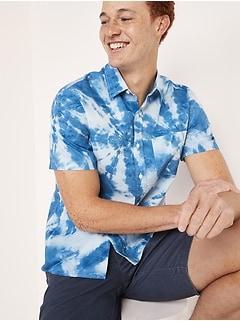 Chemise quotidienne à imprimé à manches courtes Built-In Flex pour Homme