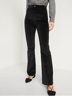 Extra High-Waisted Velvet Flare Jeans for Women
